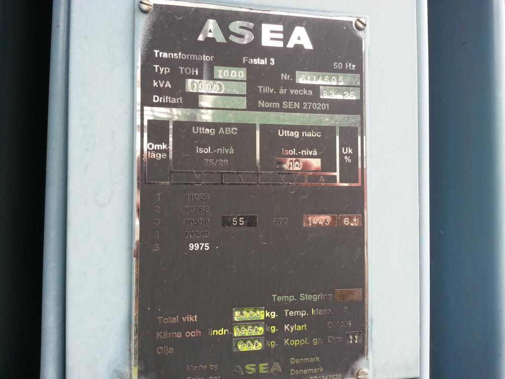 ASEA 1000 kVA (10x0.4)
